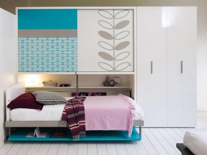 chic-white-wood-floor-design-feat-wonderful-kids-hideaway-bed-photo-gallery-plus-round-desk-lamp-718x539